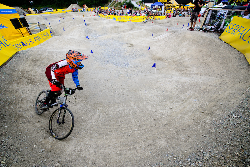 Atis SCERBINIS LAT on his way to victory during the Rookies Pumptrack Challenge during the Kona International Rookies Games in Tyrol Austria on August 7 2015. Free image for editorial usage only Photo by Felix Oesterle