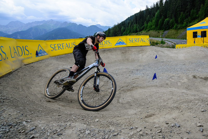 Fabian BURGARD GER on his last meters to finish during the Rookies Pumptrack Challenge during the Kona International Rookies Games in Tyrol Austria on August 7 2015. Free image for editorial usage only Photo by Felix Oesterle