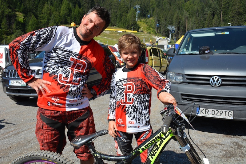Rafal and Igor Wypi r POL competed in the Family Challenge at the MTB-Festival Serfaus-Fiss-Ladis.