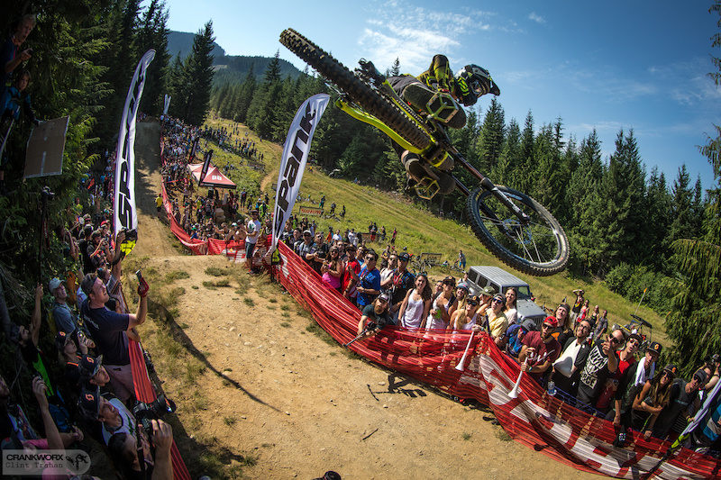 Bernarno Cruz who finished in second place at the Official Whip-Off World Championships presented by Spank at Crankworx Whistler. Photo by clint trahan crankworx