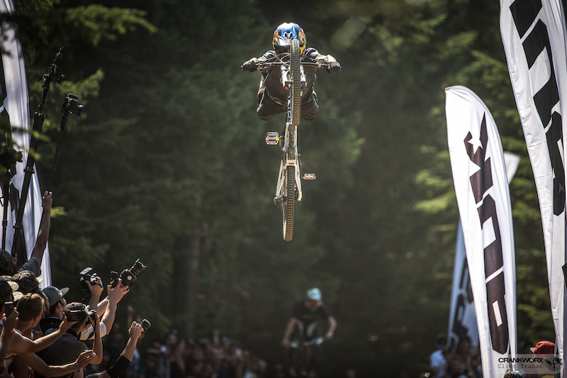 Andreu Lacondeguy at the Official Whip-Off World Championships presented by Spank at Crankworx Whistler. Photo by clint trahan crankworx