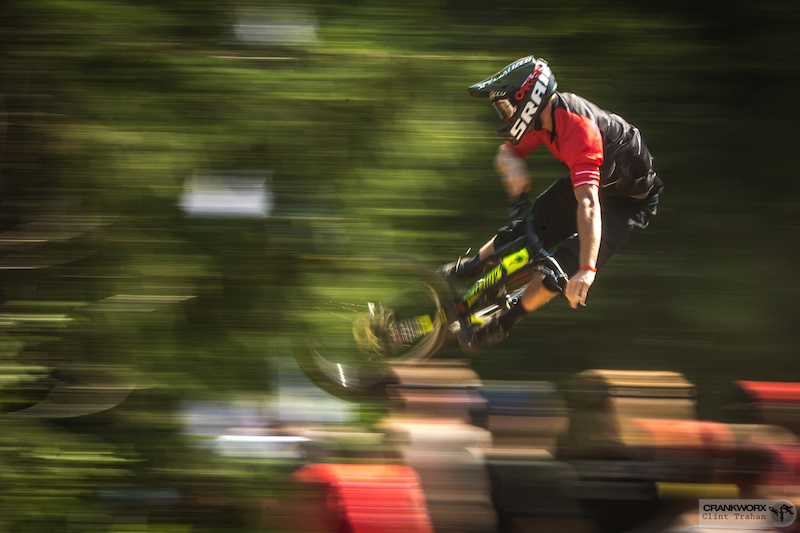 Davis Jackson at the Official Whip-Off World Championships presented by Spank at Crankworx Whistler. Photo by clint trahan crankworx