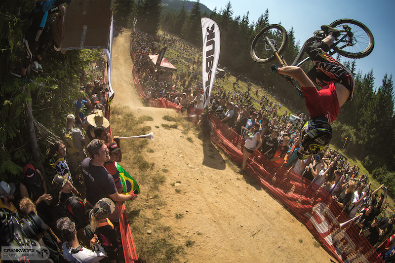 Unknown rider at the Official Whip-Off World Championships presented by Spank at Crankworx Whistler. Photo by clint trahan crankworx