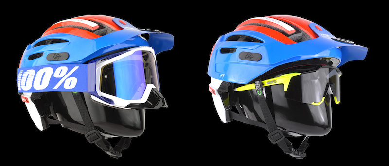 The enduromatic 2 by urge fits goggles and glass