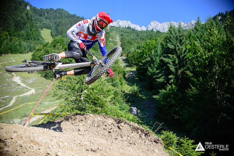 The avalanche hill saw many different rider styles. Here s ZELLNER Sigi GER just styling it...