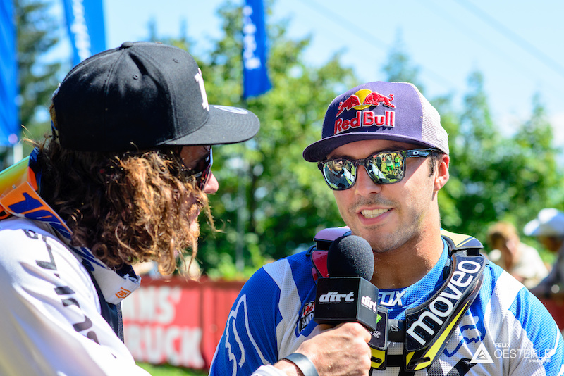 When s the last time you saw a 2nd place racer interview the winner Watch out for WynTV s edit of the race.