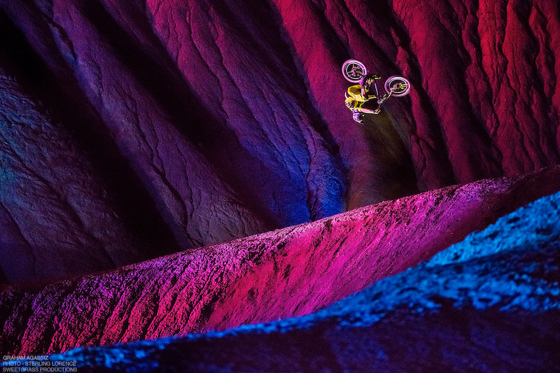 Graham Agassiz in Big Water, Utah while  filming Sweetgrass Productions movie 'DarkLight' due out October 2015.