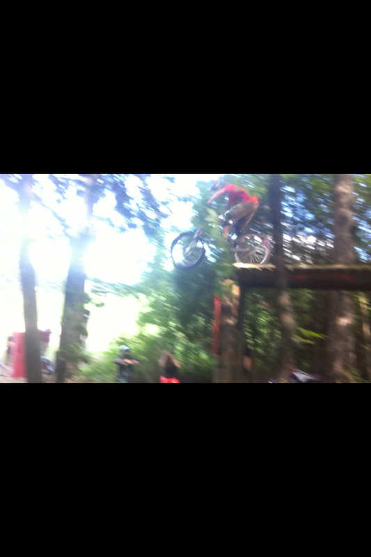 Coming off the 18 foot gap, sorry for iphone 4 pic