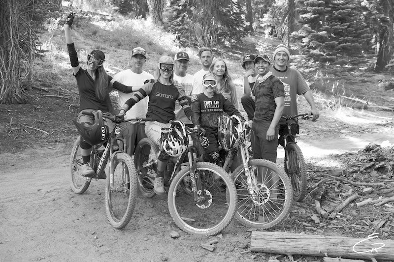 The ladies and documentary film crew take a break after a full day of intense riding while filming the first episode of The Line Documentary Series. The Line focuses the lens on women completing in high adrenaline sports.