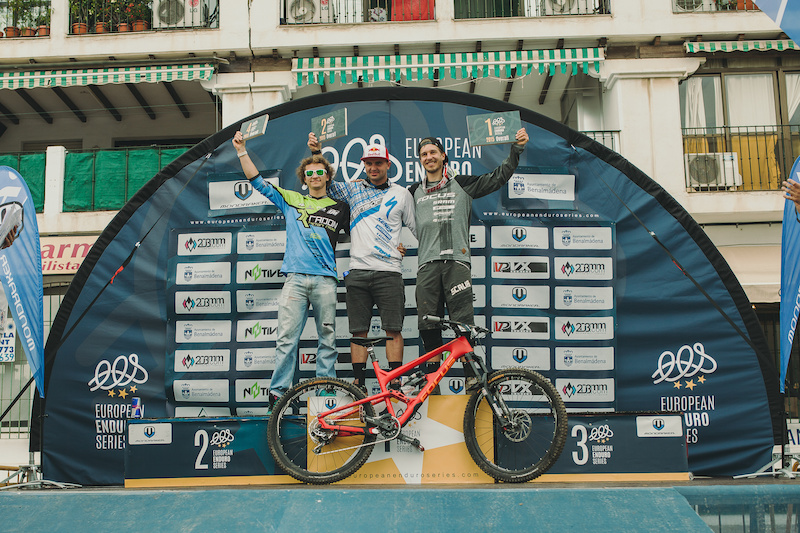 Overall podium of the European Enduro Series 2015 on October 18 in Benalmadena Spain 2015. Free image for editorial usage only Photo by Antonio Lopez