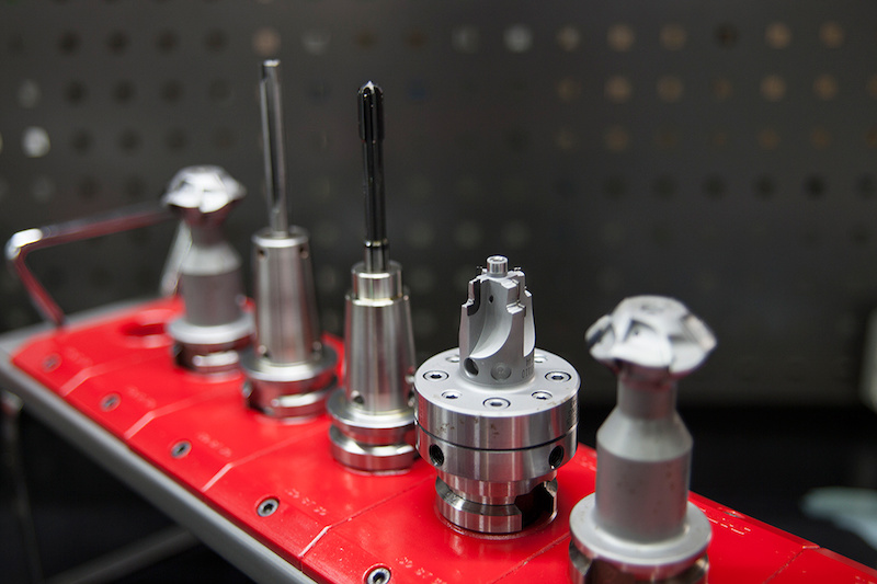 Swiss-made CNC bits, custom made for Spank pedal production.