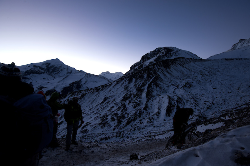 We began Stage 7 in the dark at 4 30am to try and avoid the high winds up at the 5416m Tharong La.