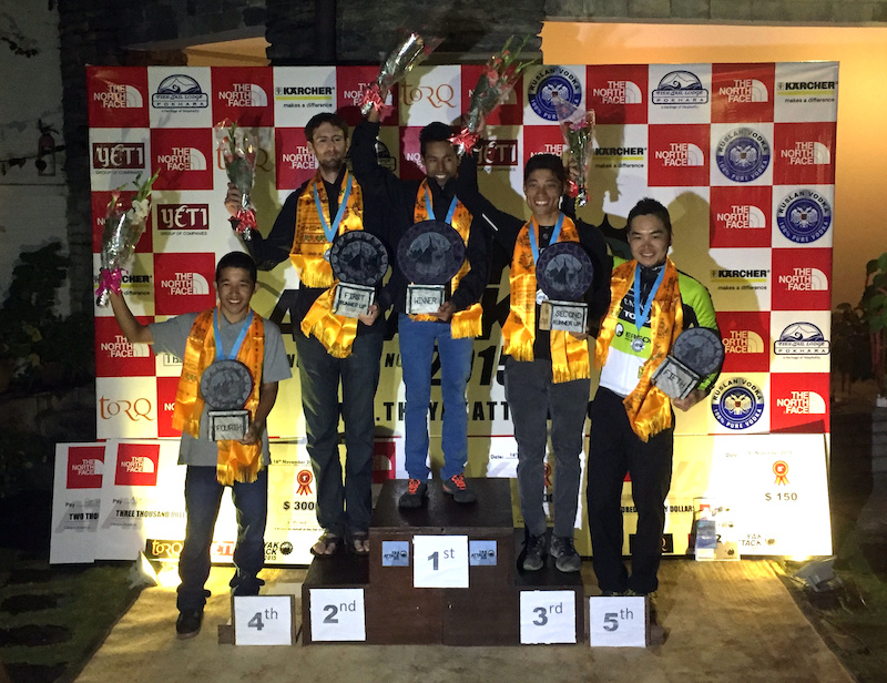 The Podium. Jay 1st Pete 2nd Narayan 3rd Aayaman 4th and Yuki 5th