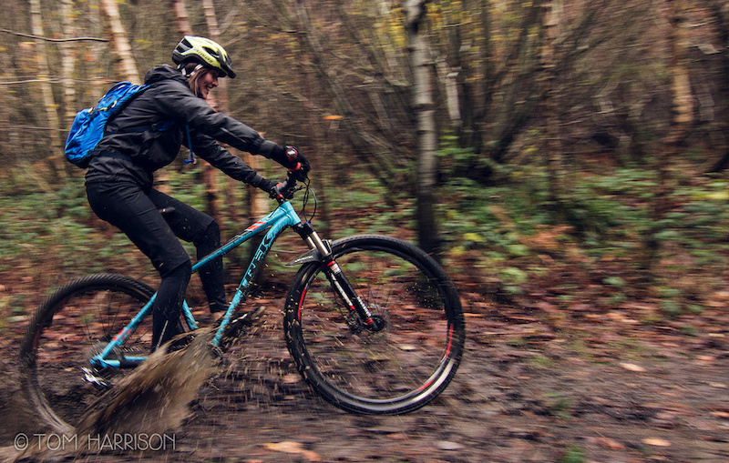 Cotic Bfe Trek Xcaliber Wharncliffe Woods in the mud