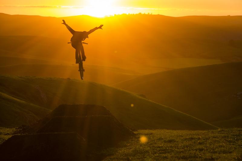 Brandon Semenuk tuck no hander in Cambria California during the filming of his one-shot segment in the unReal movie.