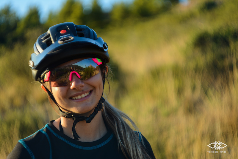 Portrait of Isabeau during a ride in the Sainte Baume