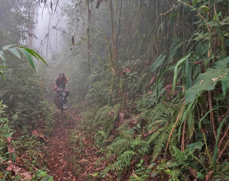 Mama Rumi Mother Rock in Quecha is a centuries old Inca trail descending from 3023m above San Miguel de Bolivar in Ecuador to 1130m to Telimbela over 12kms. It was rediscovered by Mauricio Gaibor s grandfather. Mauricio now runs the Downhill Mama Rumi race on it