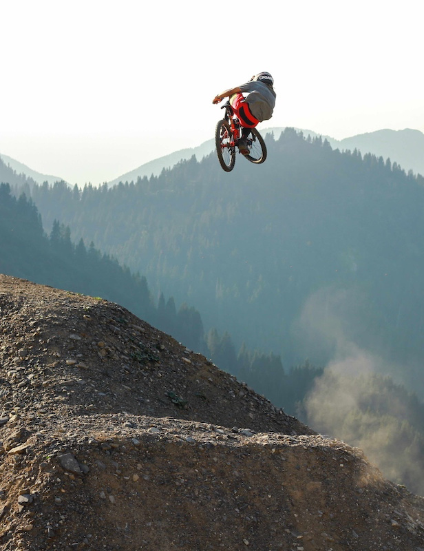 Nick Pescetto boosting the hip at Chatel