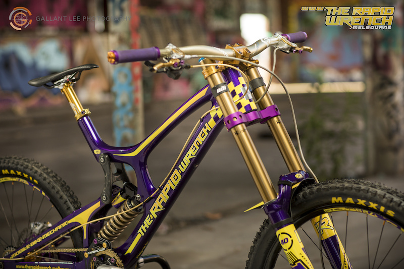 The Rapid Wrench Santa Cruz V10c Promo Bike By