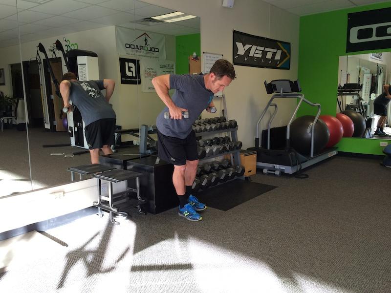 Single leg deadlift row squat to sit curl to press- 3