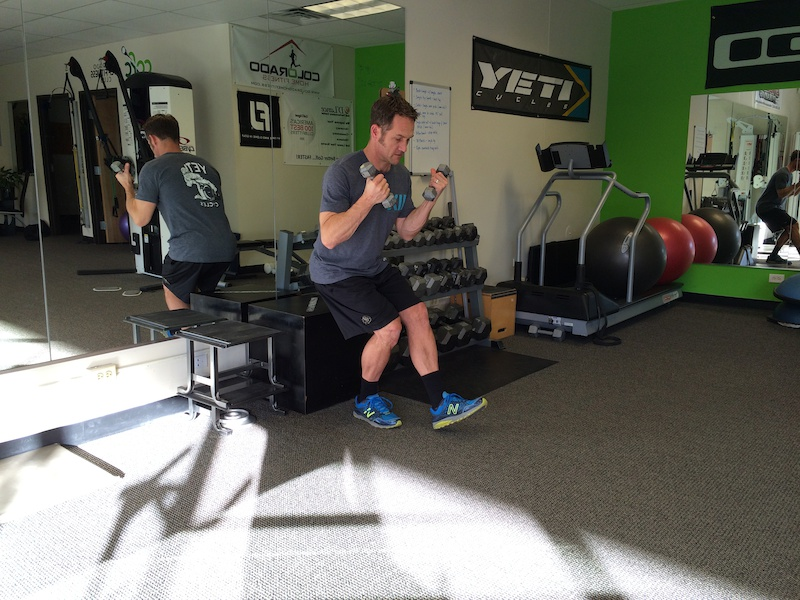 Single leg deadlift row squat to sit curl to press- 5