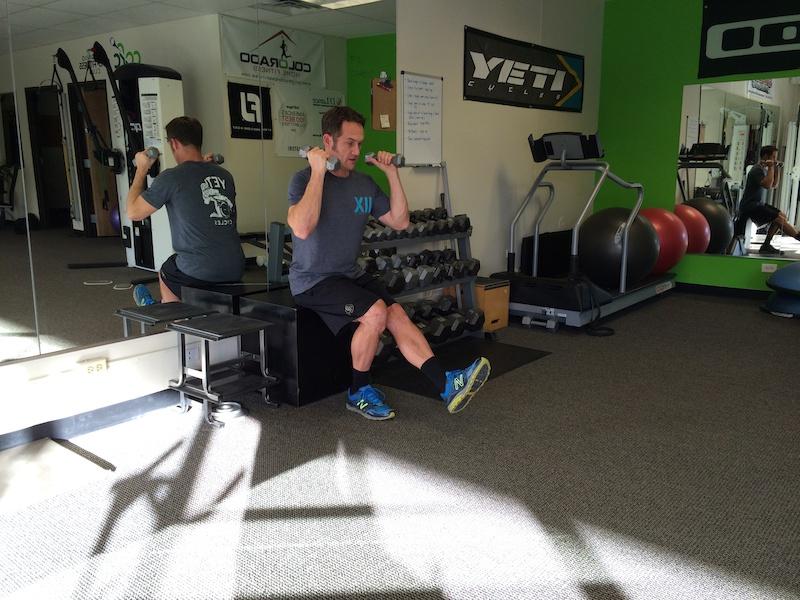 Single leg deadlift row squat to sit curl to press- 6