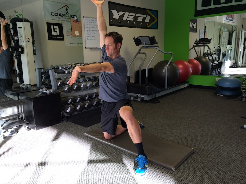 Final Position for Hip Stretch