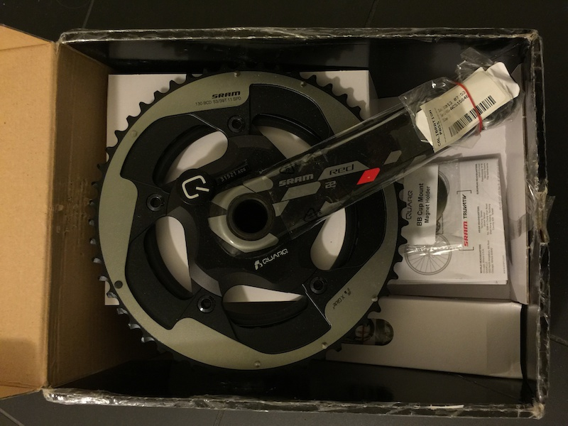 2015 Quarq Power Meter on Red 22 crank w/ chainrings