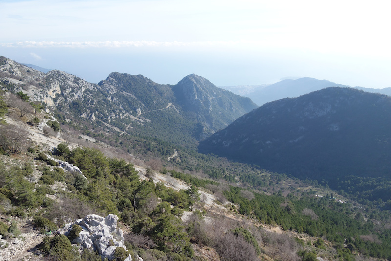 This is the highest point we got to views all the way down the valley to the sea