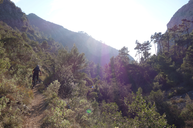 The trail down from Bompin down to Peillon village was really something special we got pretty excited riding it in the setting sun