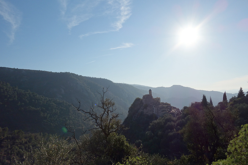 At the end of it all we popped out above the tiny village of Peillon which sits cramped onto a rocky outcrop surveying the valley below