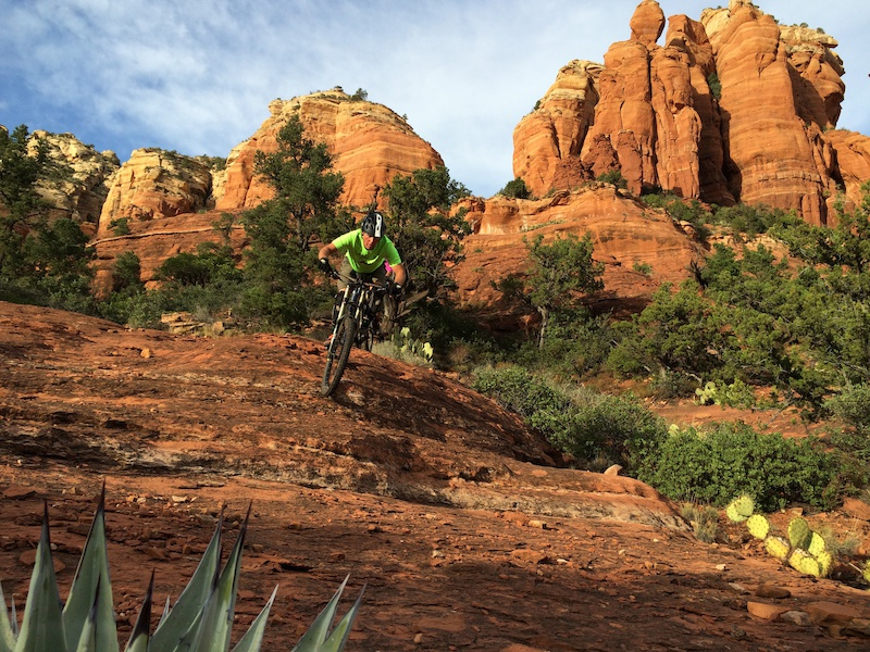 Mountain Bike Guide Denis Rogers knows the way to greater fun. You can thank this guy for inspiring the Sedona Benduro