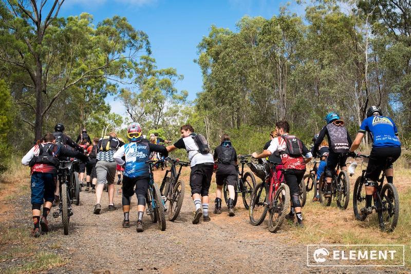 Making the climb up the Toowoomba range.