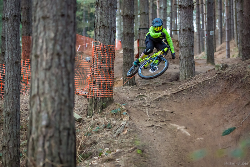 Miss Joey Gough shredding the Snake run at Chicksands bikepark.