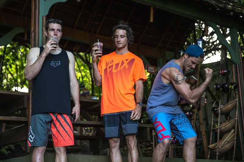 Stevie Smith Mark Wallace and Connor Fearon in Maui Hawaii USA