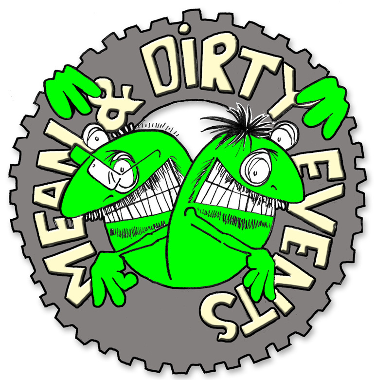 Mean and Dirty events logo. www.meananddirty.co.uk