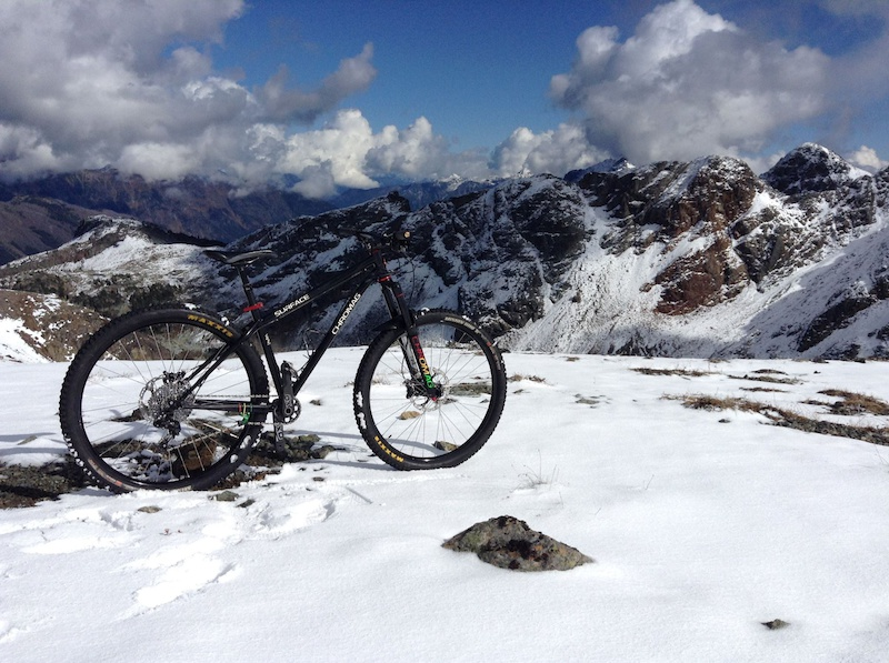 Chromag warehouse manager Cookie s Surface at Barbour pass high above Tenquille Lake in Pemberton BC.