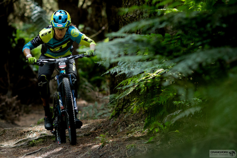 Anneke Beerten proved an unstoppable machine and the true Queen as she dominated the Giant TOA Enduro at Crankworx in Rotorua New Zealand. Photo by Clint Trahan Crankworx