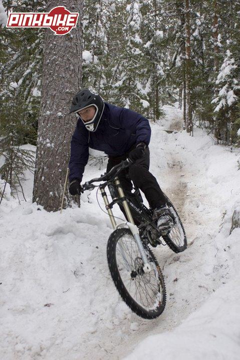 WinterDH at Laajavuori. Photo: MattiT