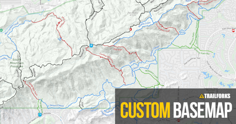 Trailforks Custom Basemap - Pinkbike