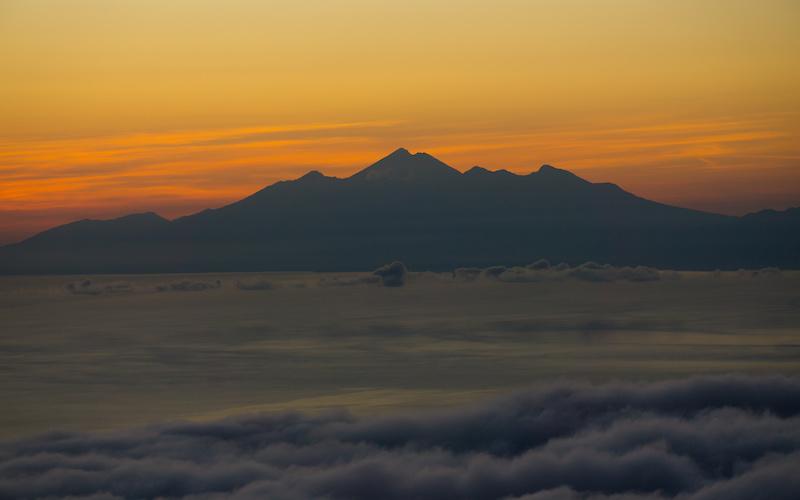 Sunrise up Batur