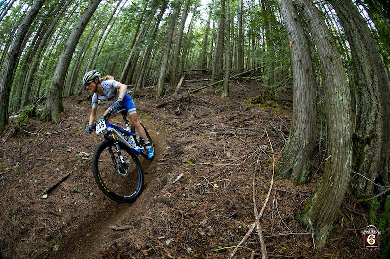 rider Catharine Pendrel wins Stage 1 location Salmon Arm B.C. Canada
