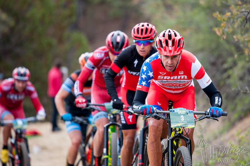 Todd Wells leads the men s pack near Skull Valley.