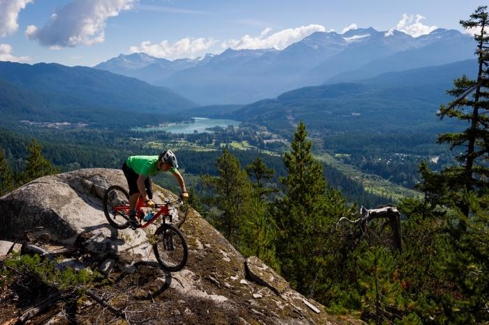 Cross country mountain biking with stunning mountain scenery