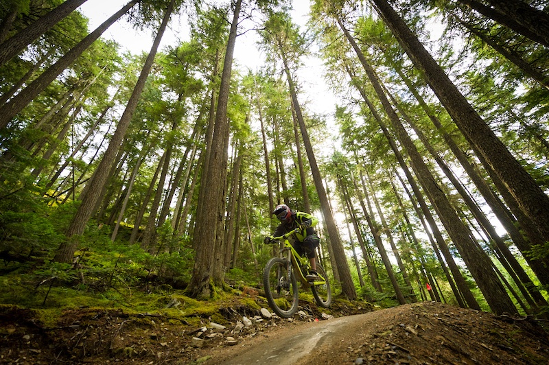 Riding Crank it Up in the Bike Park