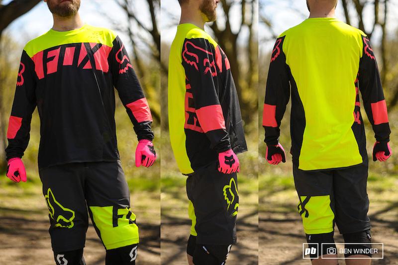 Fox Racing Demo Long Sleeve L//S Jersey Yellow//Black