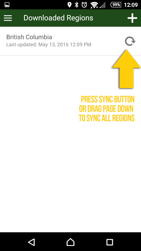 Sync downloaded region step 2