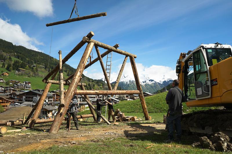 Crankworx Les Gets Slopestyle course build 2016