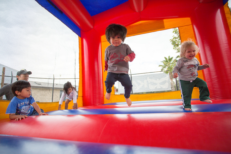 During the ground breaking families were encouraged to bring the whole family. Bounce houses and face painting for the little ones was a big hit as was the fun zone seen below.