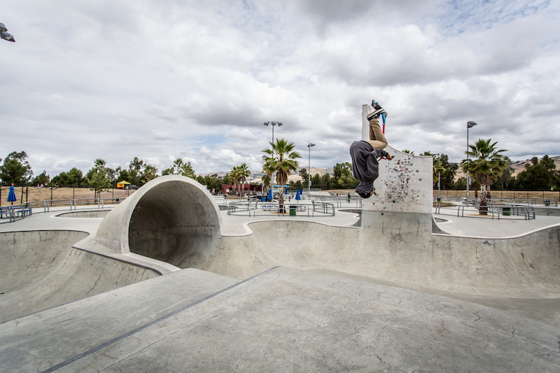 Cody is a 17 year old Park regular from San Jose who started scootering in 2012. Here he is seen throwing a casual back flip out of the big features bowl. Someone needs to sponsor this kid
